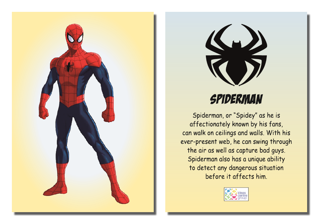 Superheroes Card
